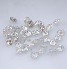 36 Round Brilliant Diamonds – 0.40 ct. - No Reserve