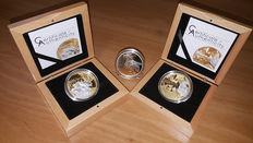 Cook Islands – 5 Dollars 2014 'Bee', 2015 'Butterfly' & 2016 'Fish' Shades of Nature (3 coins) – Silver