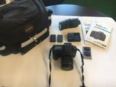 Canon EOS 10D  / Flash Canon 420 EX / PCMCIA adapter & memory card / Charger + 2 batteries/ Lens 24x85 Canon