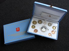 Vatican – year pack/ year collection (Proof) 2012, Benedict XVI, including a silver 20 Euro coin in coffer.