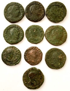 Roman Empire - A small collection of 10 Provincial coins Mint of Viminacium