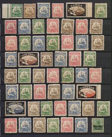 German occupation – Lot of stamps from the German colonies of the 1901 series