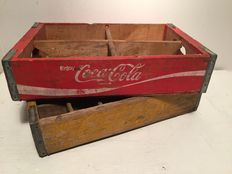 Two vintage crates from the United States, 2x Coca-Cola - from the 1970s