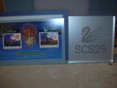 Swarovski - Acrylic displays SCS 25 years - Fireworks Stamps, Limited Edition.