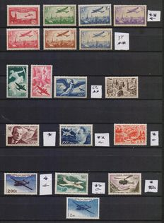 France 1930/1960 - Collection of air mail stamps