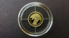 Germany - gold coin, unity, law and freedom - gold