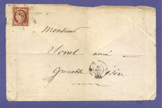 France 1857 – Cérès letter signed Calves with digital certificate – Yvert No. 6