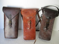 Three Documents Leather bags WW 1 and 2
