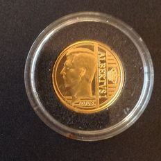 "Belgium – 12½ euros 2008 ""Albert I"" – 1.25 grams of gold"