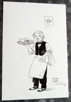 Plessix, Michel - original drawing in India ink - Julien Boisvert - (1994)