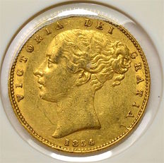 Great Britain - Sovereign 1854 - Victoria - gold