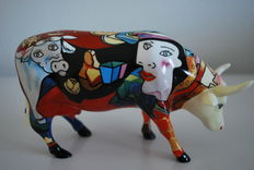 Annalie Dempsey for Cow-parade - Picowso's African Period - Medium with box and tag