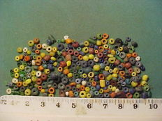 Over 200 Roman period glass, terracotta and stone beads - 0.25-5 mm (200+)
