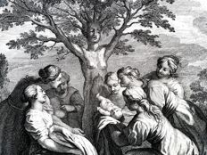Probably Philip van Gunst (1685-1732) - Myrrha transforms into an Tree - 1732