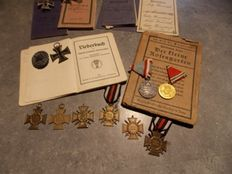 Wonderful lot of german military passports, one Gotha 3 Vize-Feldwebel, and medals