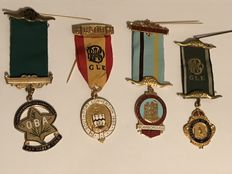 Collection 4 vintage  Masonic medals