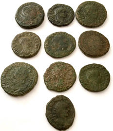 Roman Empire - A small selection of Viminacium mint AE's - Lot of 10 pieces.