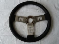 Leather sports steering wheel - Quillery - 70 's