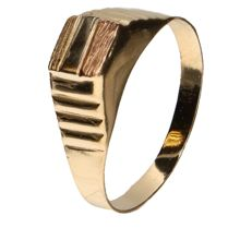 Tricolour gold ring in 14 kt