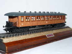 Märklin H0 - 4270 - Wooden passenger carriage of the Swedish SJ, with interior and interior/exterior lighting