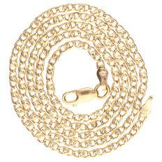 Yellow gold curb link necklace of 14 kt – 47 cm.