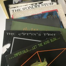 Waterboys, O.M.D., Crime + The City Solution, Anne Clark, etc collection of 15 wave/indie/alt records