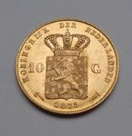 Check out our Netherlands - 10 Guilders 1879/1877 mintage, William III - Gold