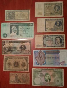 World - Lot 160 world assorted banknotes some great value