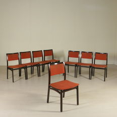 Unknown Designer – Set of 8 chairs.
