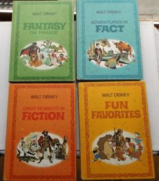 Walt Disney Parade - 4 Volumes in Slip-Case - Fun + Fact + Fantasy + Fiction - 4xhc - 1st print (1970)