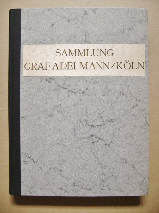 Auction Catalogue; Otto Von Falke (composer)   Sammlung Graf Adelmann /  Köln