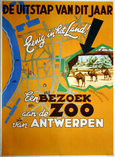 René Van Poppel - A visit to the Antwerp Zoo - 1948