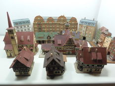 Vollmer/Kibri N - Town with half-timbered houses, barracks, church, wall houses...
