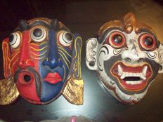 2 Masks - Thai - Second half of the 20th century