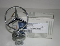 Genuine Mercedes - All chrome bonnet star emblem badge