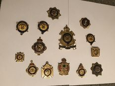 Collection of 14 Masonic medals