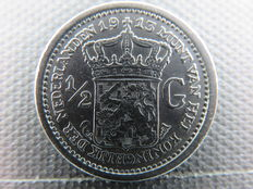 The Netherlands – ½ guilder 1913 Wilhelmina – silver