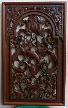 Antique wood carving panel – Japara – Java – Indonesia