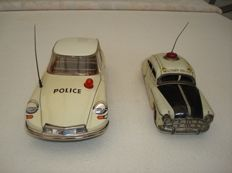 TippCo, US Zone/Western Germany - Length 18-23 cm -Lot with tin Citroën DS and MP-Limousine with friction motor, 50s/60s