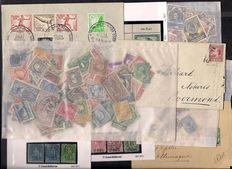World - collection in bags, on sheets and stock cards, letters, cards, postal stationary