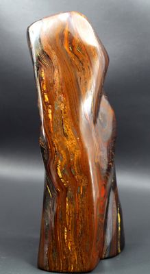 Fine, multi-coloured Tiger's Eye hand-polished tumble - 195 x 80 x 69mm - 1703gm