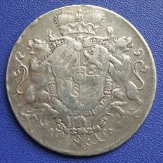 Old Germany, Bavaria - coat of arms thaler 1753 - silver
