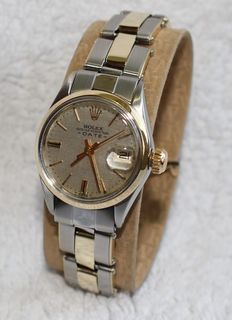 Rolex date oyster perpetual automatic ladies watch 6516 automatic - ladies watch - 1960's