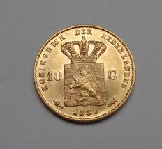 The Netherlands – 10 guilders 1888 Willem III – gold