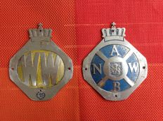 Set ANWB-Wegenwacht plaques from the 60 's