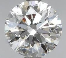 Brilliant cut diamond, 0.61 ct, H, IF.