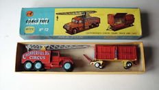 "Corgi Major Toys - Scale 1/48 - Chipperfield""s Circus Crane truck and Cage Gift Set 12"