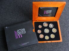 "Netherlands – year pack/ year collection 2011, including 2 Euro coin ""Erasmus""."