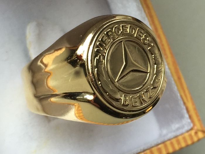 Gold mercedes benz men 39 s ring in 14 kt catawiki for Mercedes benz ring