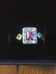 Ring with ruby, approx. 0.50 ct